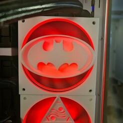 BatFan2.jpg Télécharger fichier STL Ventilateur Batman 120mm Cover • Modèle imprimable en 3D, h2o82