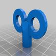 Wind_up_extruder.png Télécharger fichier STL gratuit Clé de remontage du bouton de l'extrudeuse • Modèle pour impression 3D, GrinningIdiot