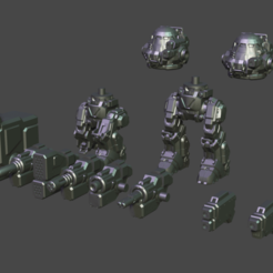 UM Pinned.png Download free STL file Mix-n-match Urban robot • 3D print design, GrinningIdiot
