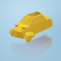 maceta2.png Télécharger fichier STL Pot de fleurs Messerschmitt KR200 Low poly Microcar • Objet pour imprimante 3D, ditomaso147