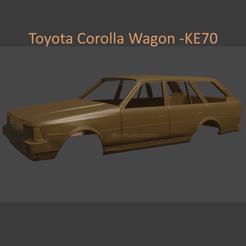 corollaaa5.png Télécharger fichier STL Toyota Corolla Wagon KE70 - Carrosserie • Objet imprimable en 3D, ditomaso147