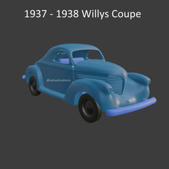 willys6.png Télécharger fichier STL 1937 - 1938 Coupe Willys • Design imprimable en 3D, ditomaso147