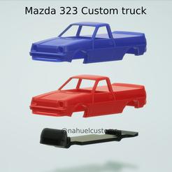 Nuevo proyecto (32).png Télécharger fichier STL Camionnette Mazda 323 personnalisée • Plan à imprimer en 3D, ditomaso147