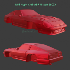 midnight1.png Télécharger fichier STL Mid Night Club ABR Nissan 280 ZX • Design à imprimer en 3D, ditomaso147