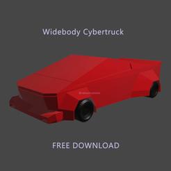 cybertruck1.png Download free STL file Widebody Custom Cybertruck - Low poly • 3D print object, ditomaso147
