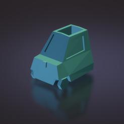 Download 3D printer model Peel P50 Flower Pot - Low poly Microcar , ditomaso147