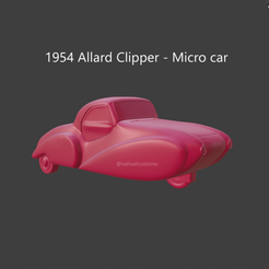 allard4.png Download STL file 1954 Allard Clipper - Micro car • 3D printable model, ditomaso147