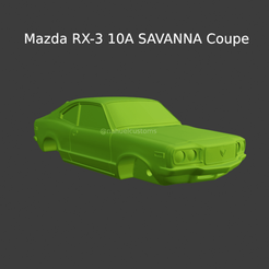 Nuevo proyecto (78).png Download STL file Mazda RX-3 10A SAVANNA Coupe - Solid body • 3D print object, ditomaso147