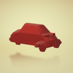 llavero2.png Download STL file messerschmitt KR200 Low poly Microcar Keychain • 3D printable design, ditomaso147