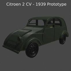 New Project(12).jpg Télécharger fichier STL Citroën 2CV - Prototype de 1939 • Plan imprimable en 3D, ditomaso147