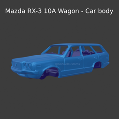 Nuevo proyecto (86).png Download STL file Mazda RX-3 10A Wagon - Car body • Template to 3D print, ditomaso147