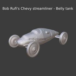 Nuevo proyecto (73).png Download STL file Bob Rufi's Chevy streamliner - Belly tank • 3D printing design, ditomaso147