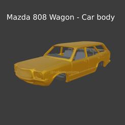 Nuevo proyecto (89).png Download STL file Mazda 808 Wagon - Car body • Template to 3D print, ditomaso147