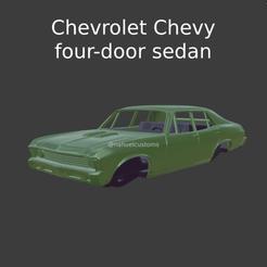 Nuevo proyecto (55).png Download STL file Chevrolet Chevy Nova four-door sedan • 3D printer template, ditomaso147