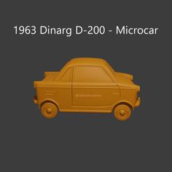 dinarg1.png Download STL file Dinarg D-200 - Microcar • 3D printable template, ditomaso147