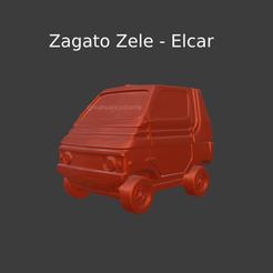 Nuevo proyecto (19).png Download STL file Zagato Zele - Elcar - Microcar • 3D printing design, ditomaso147