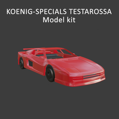 testarossakoenigkit5.png Download STL file TESTAROSSA KOENIG SPECIALS - Model kit • 3D printable design, ditomaso147