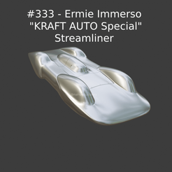 """Nuevo proyecto (61).png Download STL file #333 - Ermie Immerso """"KRAFT AUTO Special"""" Streamliner • 3D printing design, ditomaso147"""