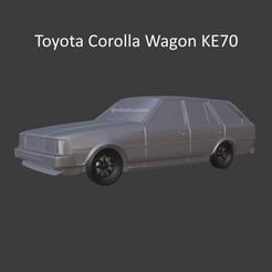 corollasolida5.png Download STL file Toyota Corolla Wagon KE70 • 3D printing design, ditomaso147