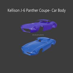kellison5.png Download STL file Kellison J-6 Panther Coupe - Car body • 3D printer model, ditomaso147
