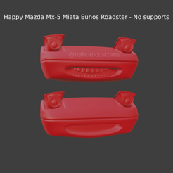 New Project(45).png Download STL file Happy Mazda Mx-5 Miata Eunos Roadster - No supports • Template to 3D print, ditomaso147