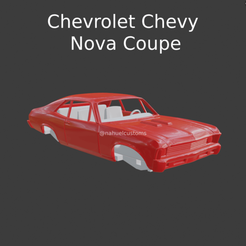 Nuevo proyecto (50).png Download STL file Chevrolet Chevy Nova Coupe • Object to 3D print, ditomaso147