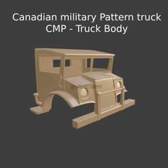 New Project(37).png Download STL file Canadian military Pattern truck - CMP - Truck Body • Template to 3D print, ditomaso147