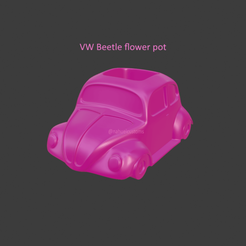 beetle1.png Download STL file Volkswagen Beetle Flower pot • 3D printable design, ditomaso147