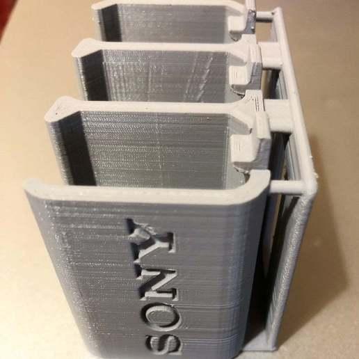 cIMG_2474.jpg Télécharger fichier STL gratuit Sony NP-FW50 3-Battery Holder avec guide de ceinture • Design pour impression 3D, KShapley