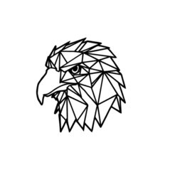 2.png Download STL file Eagle Low Poly Wall Art • 3D printing design, saracokan