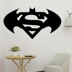 sample.jpg Télécharger fichier STL Décoration murale de Superman et Batman • Design pour imprimante 3D, saracokan