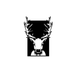 2.png Download STL file Deer Panel 2D Wall Decoration • 3D printable object, saracokan