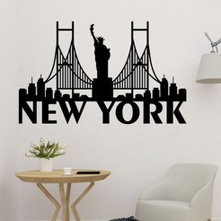 sample.jpg Download STL file New York Symbol 2D Wall Decor • 3D print model, saracokan
