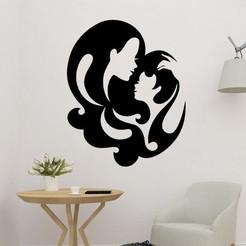 sample.jpg Télécharger fichier STL Art mural en 2D de la mère et du fils • Design imprimable en 3D, saracokan