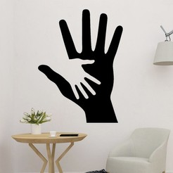 sample.jpg Download STL file hand in hand Art • 3D printable design, saracokan