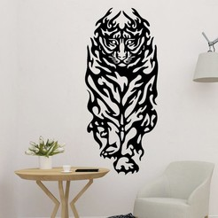 sample.jpg Download STL file Tiger 2D art Decoration  • 3D printing template, saracokan