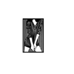 2.png Télécharger fichier STL Panneau de fille 2D Décor d'art mural • Plan imprimable en 3D, saracokan