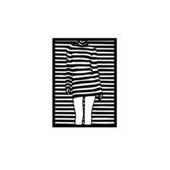 2.png Télécharger fichier STL Décoration 2D de l'art mural féminin • Design imprimable en 3D, saracokan