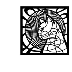 cat_art1.png Télécharger fichier STL Chat 2D Décoration d'art mural • Plan pour impression 3D, saracokan