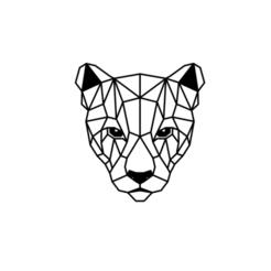 2.png Download STL file Puma Head Panel Wall Art • 3D printing template, saracokan