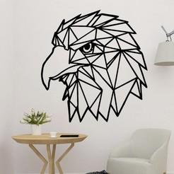 sample.jpg Télécharger fichier STL Art mural polyvalent de l'aigle • Design pour impression 3D, saracokan