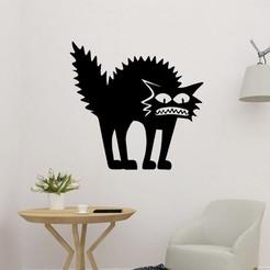sample.jpg Download STL file Shaggy Cat 2D  • 3D print design, saracokan