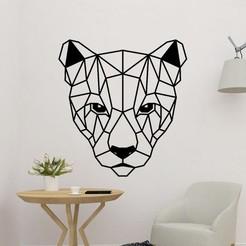 sample.jpg Télécharger fichier STL Panneau de tête Puma Art mural • Design imprimable en 3D, saracokan