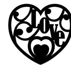 heart_love.png Download STL file Heart Love 2D wall art • 3D printer template, saracokan