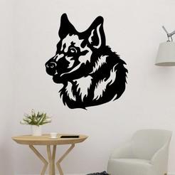 sample.jpg Download STL file Wolf Head Wall Art • Design to 3D print, saracokan