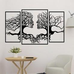 sample.jpg Télécharger fichier STL Arbre d'art mural en forme de couple • Objet pour impression 3D, saracokan