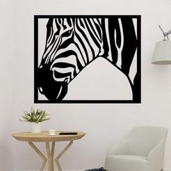 sample.jpg Download STL file Zebra 2D Wall Art  • 3D printer model, saracokan