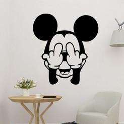 sample.jpg Télécharger fichier STL Disney Mickey Mouse Wall Art • Objet imprimable en 3D, saracokan