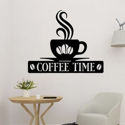 sample.jpg Download STL file Coffee Time 2D Wall Decor • 3D printing model, saracokan