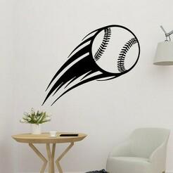 sample.jpg Télécharger fichier STL Décor mural 2D aérodynamique pour le baseball • Modèle à imprimer en 3D, saracokan